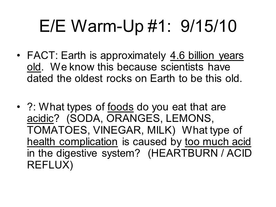 E/E Warm-Up #1: 9/15/10