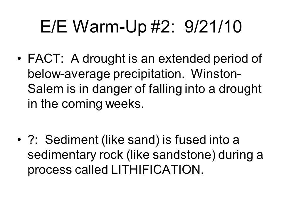 E/E Warm-Up #2: 9/21/10