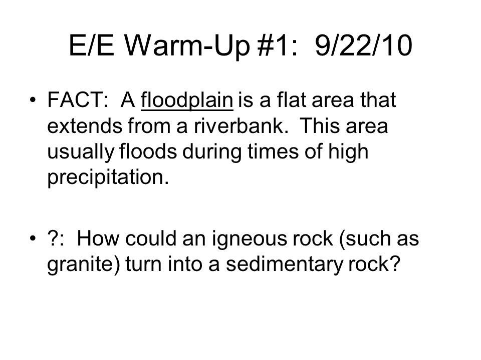 E/E Warm-Up #1: 9/22/10