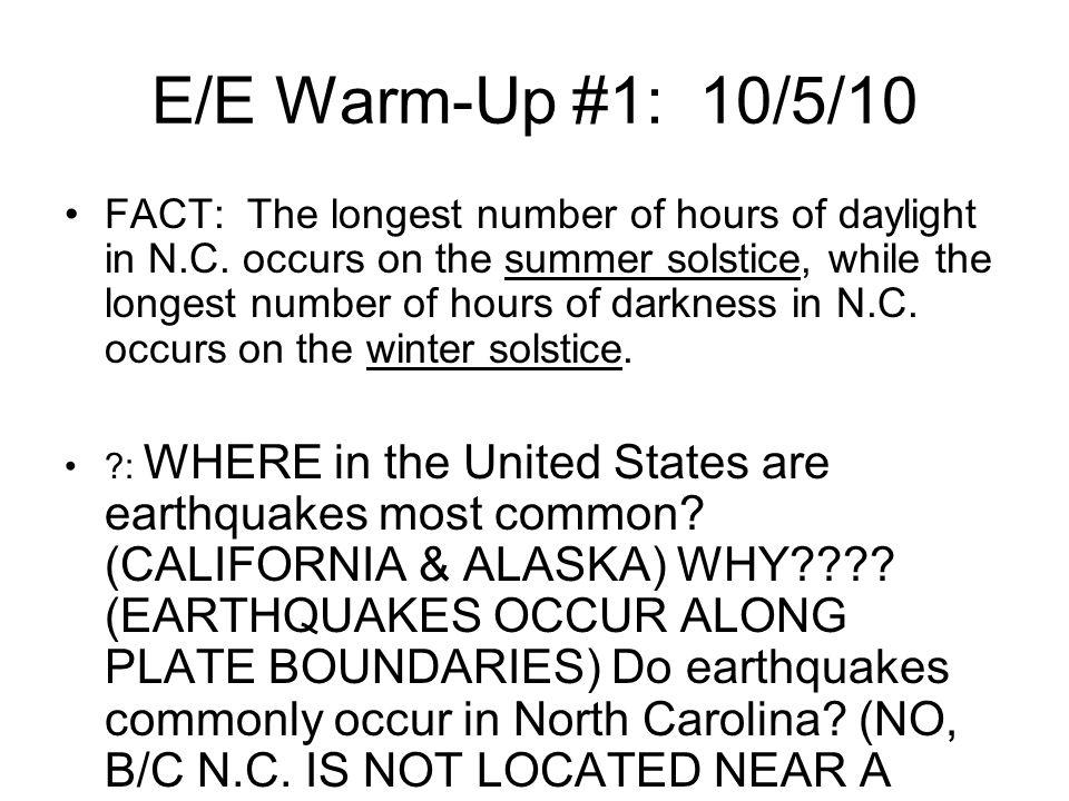 E/E Warm-Up #1: 10/5/10