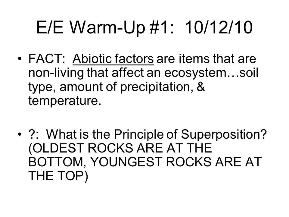 E/E Warm-Up #1: 10/12/10