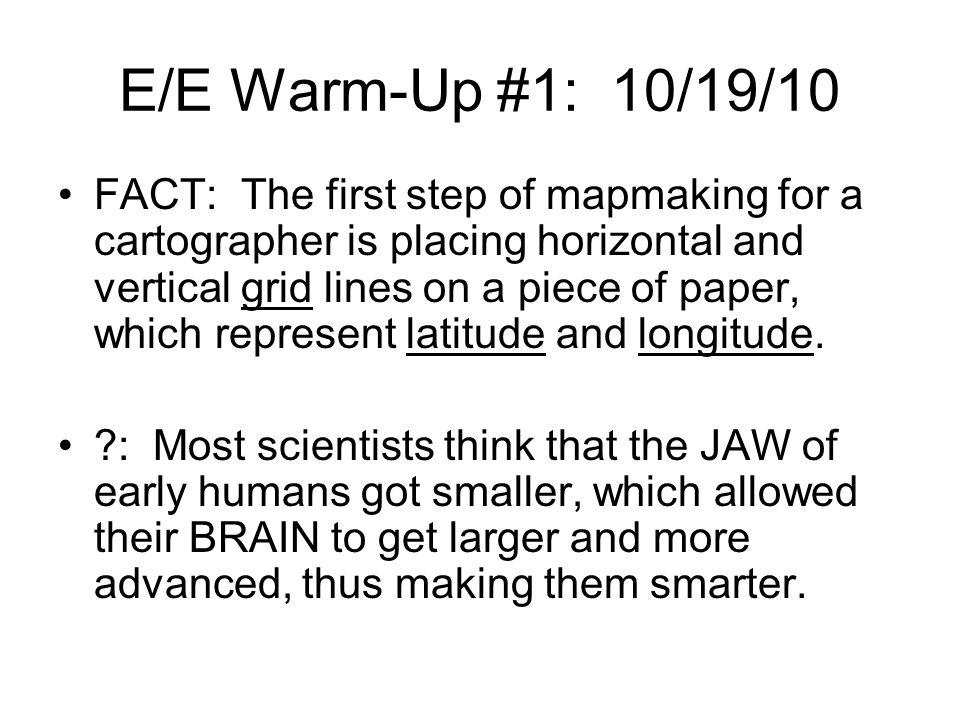 E/E Warm-Up #1: 10/19/10