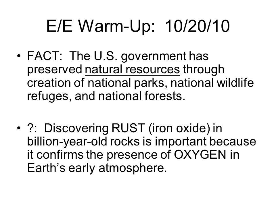 E/E Warm-Up: 10/20/10