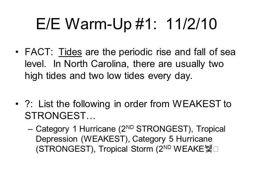 E/E Warm-Up #1: 11/2/10