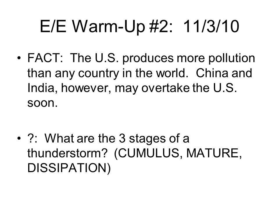 E/E Warm-Up #2: 11/3/10