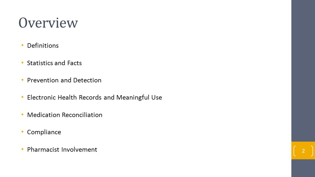 Overview Definitions Statistics and Facts Prevention and Detection