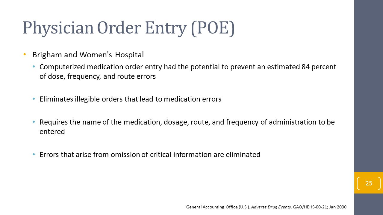 Physician Order Entry (POE)