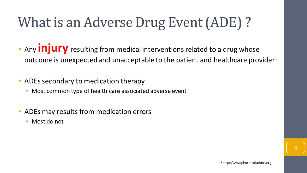 What is an Adverse Drug Event (ADE)