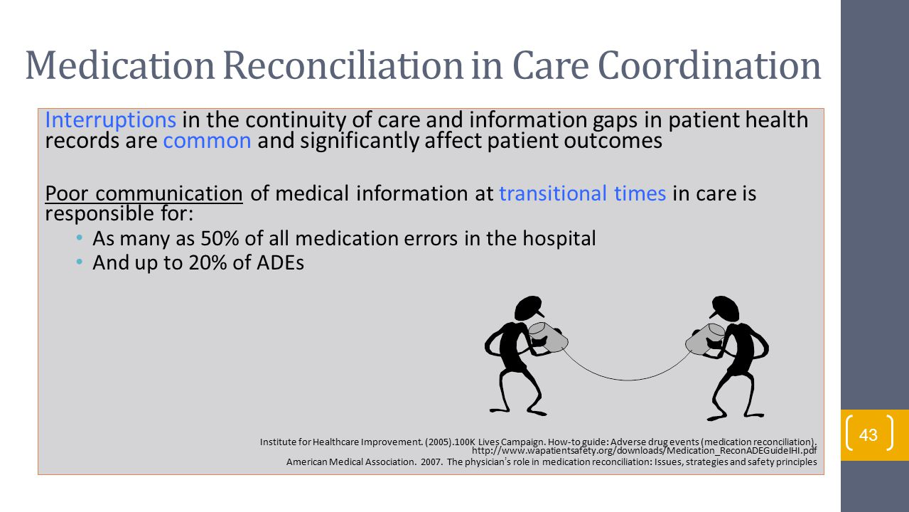 Medication Reconciliation in Care Coordination