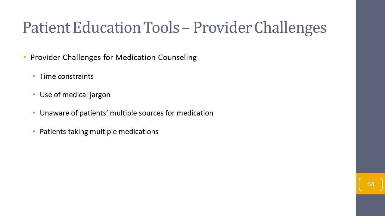 Patient Education Tools – Provider Challenges