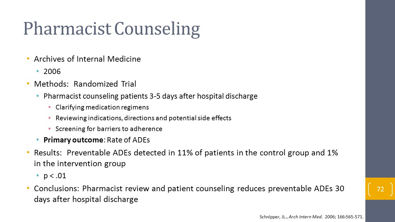 Pharmacist Counseling