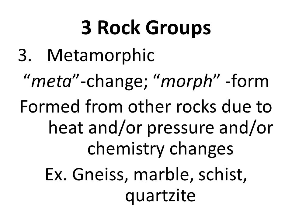 3 Rock Groups