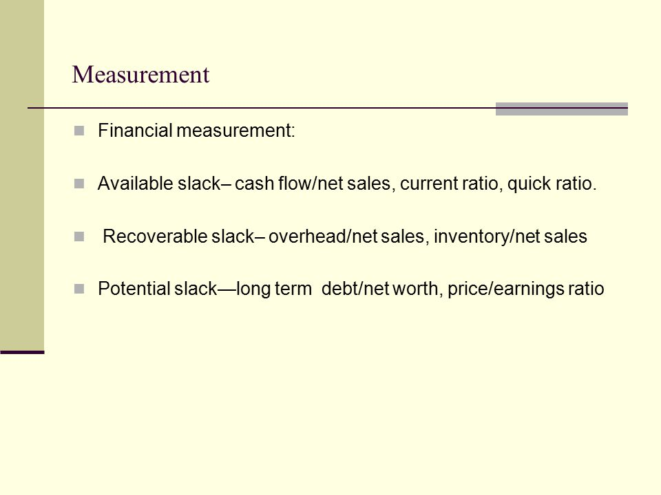 Measurement Financial measurement: