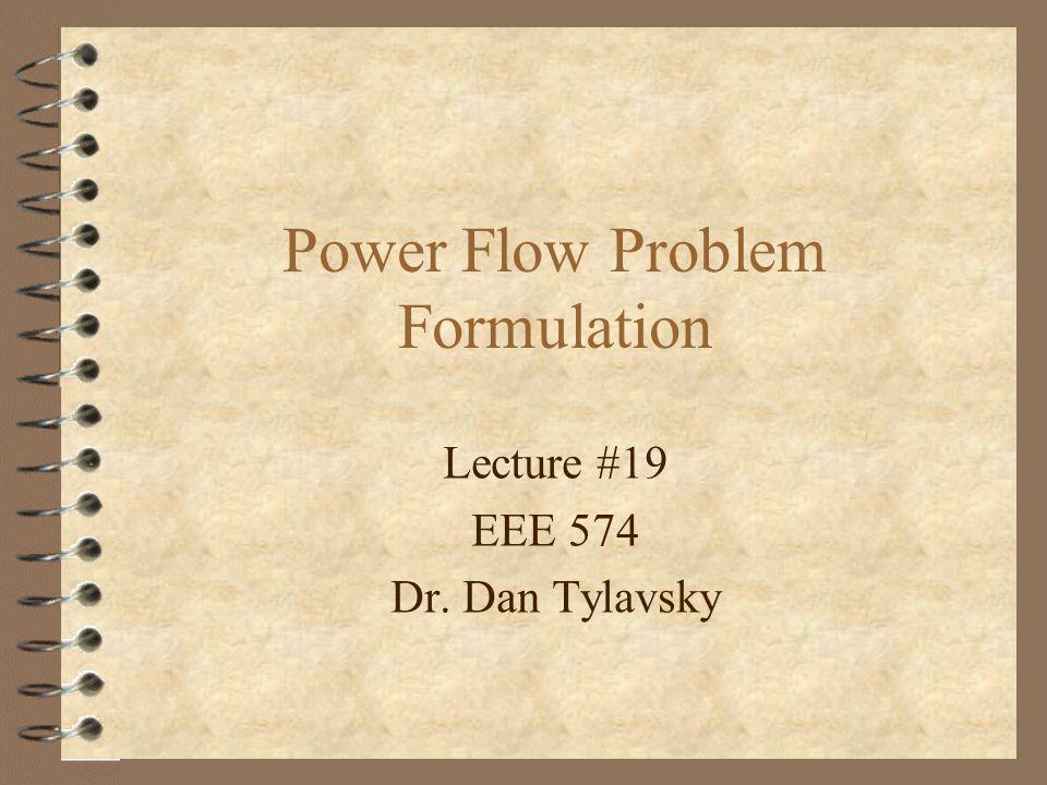 Power Flow Problem Formulation