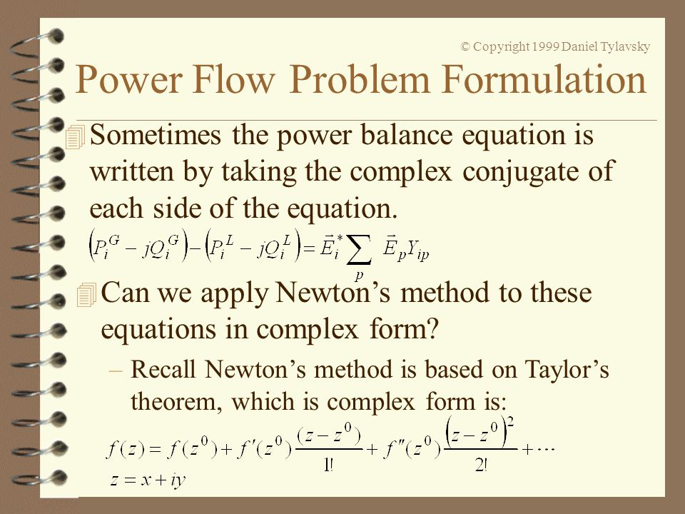 Can we apply Newton's method to these equations in complex form