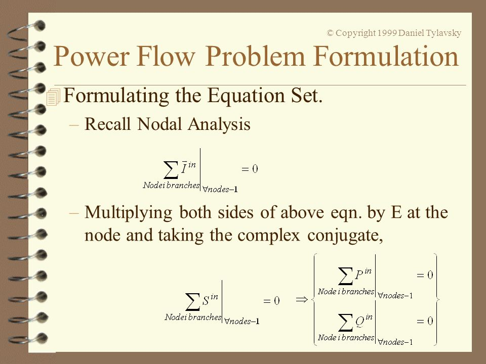 Formulating the Equation Set.