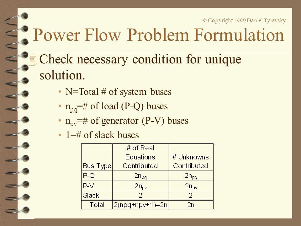 Check necessary condition for unique solution.