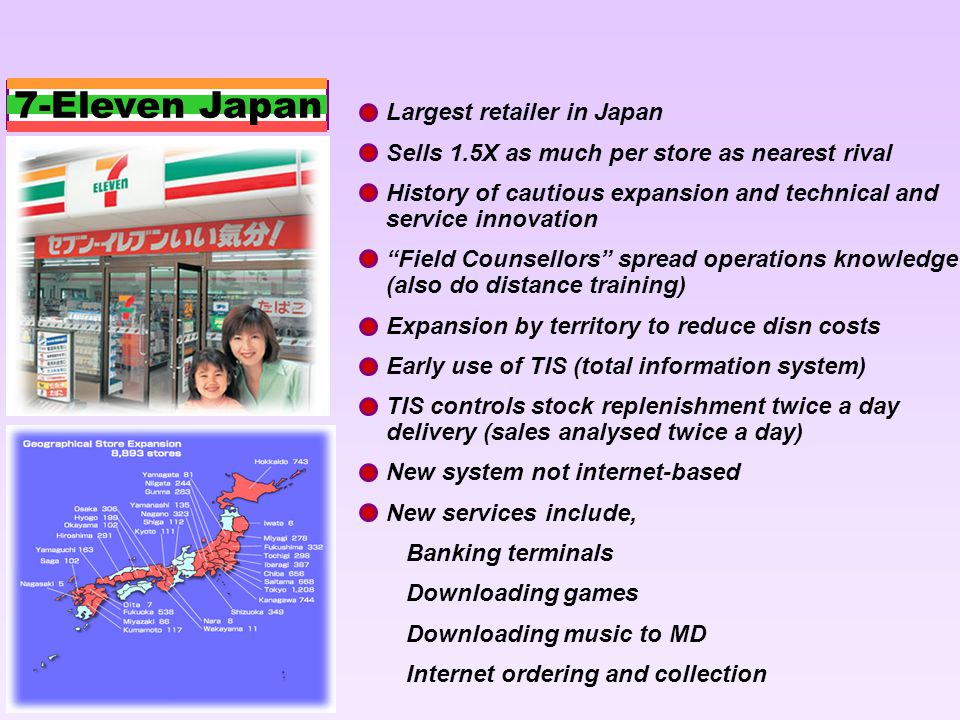 7-Eleven Japan Largest retailer in Japan