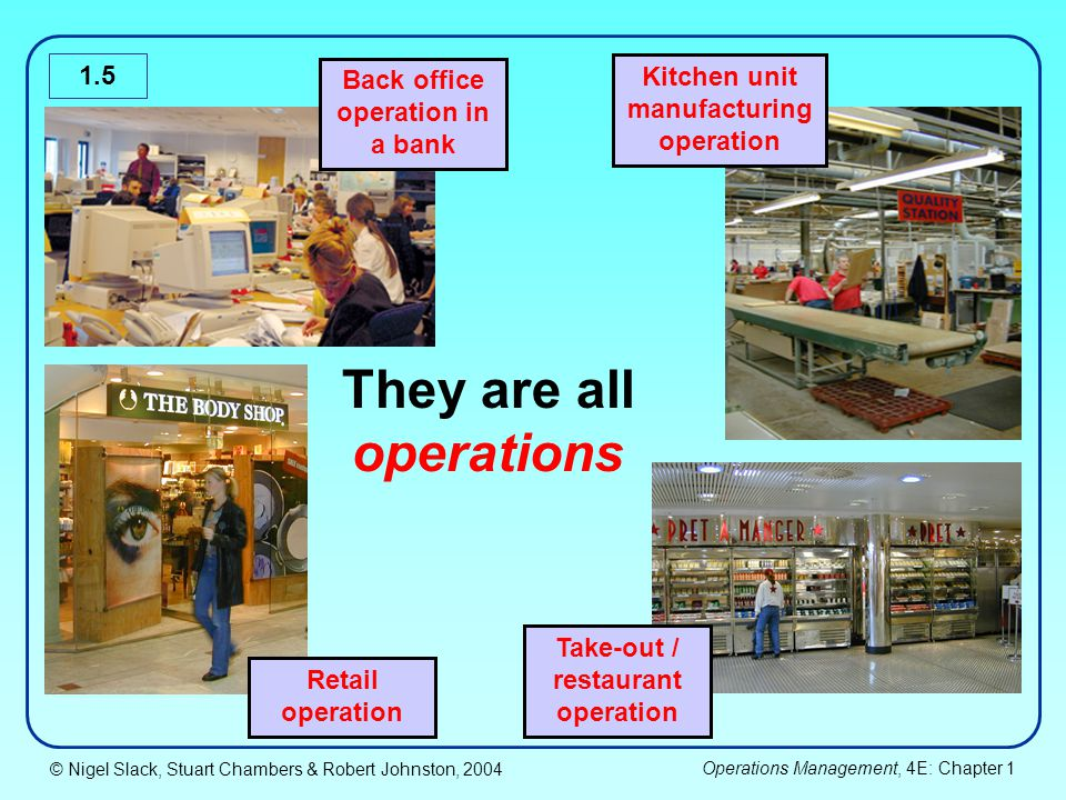 They are all operations