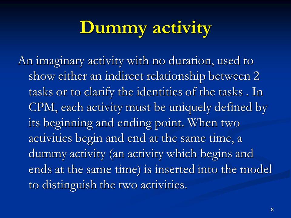 Dummy activity