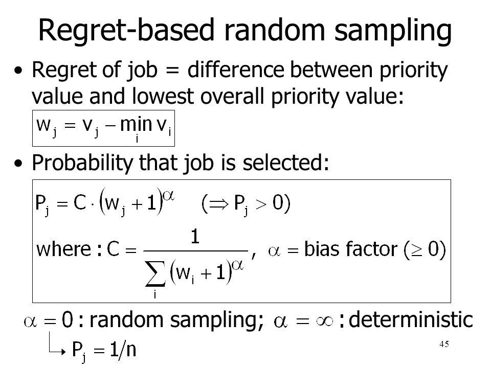Regret-based random sampling