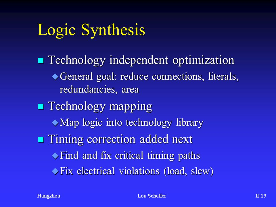 The Quest for Synthesis and Layout Timing Closure