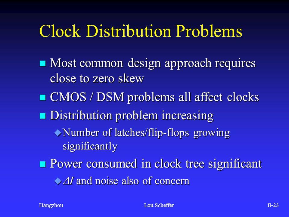 Clock Distribution Problems