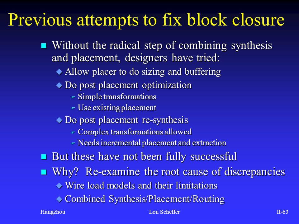 Previous attempts to fix block closure