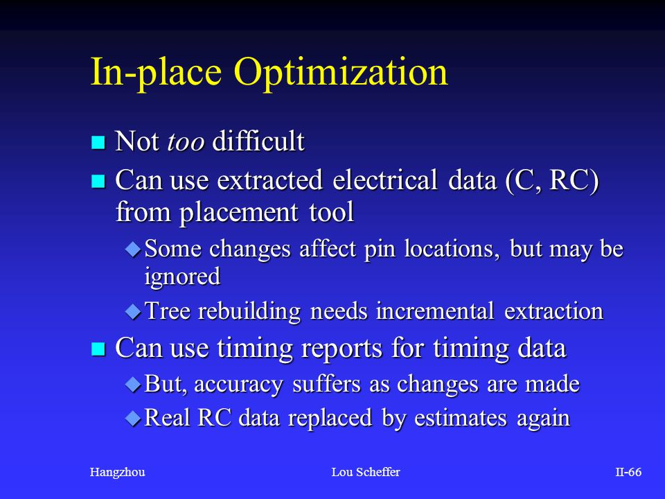 In-place Optimization