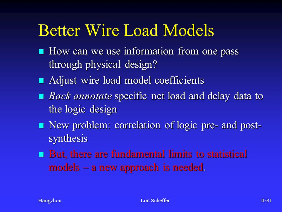 Better Wire Load Models