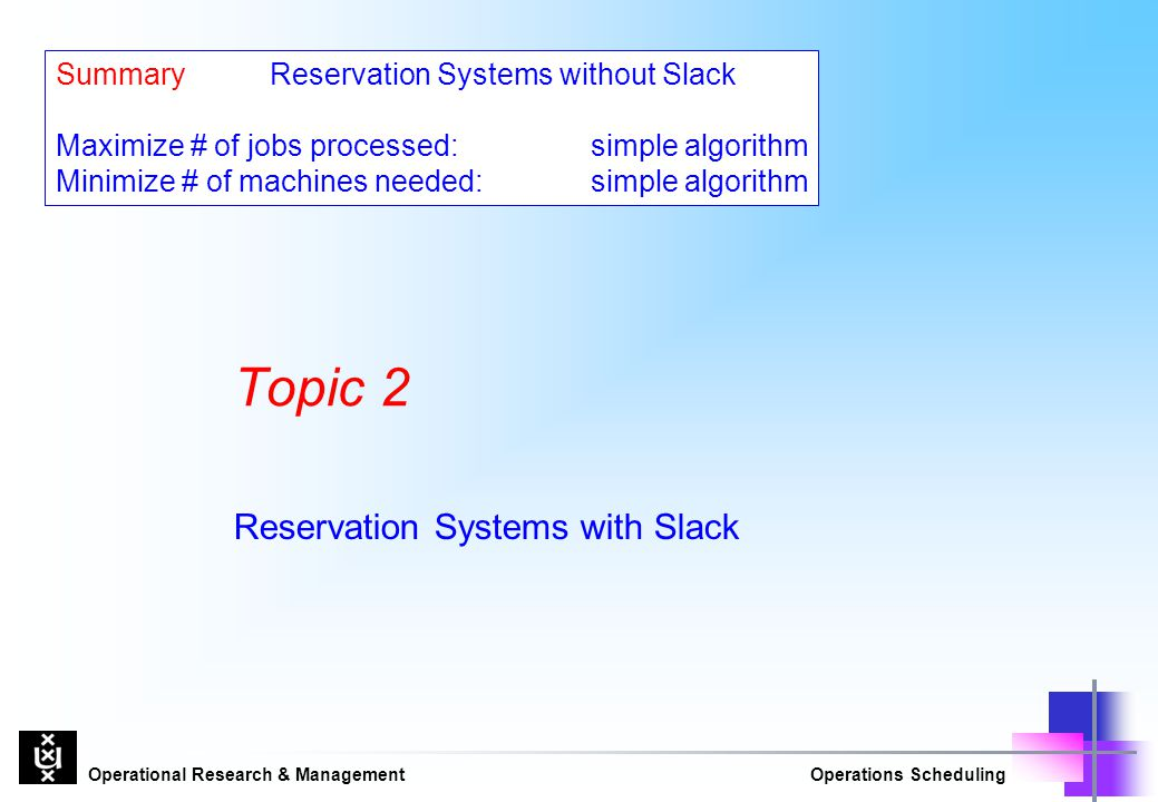 Reservation Systems with Slack