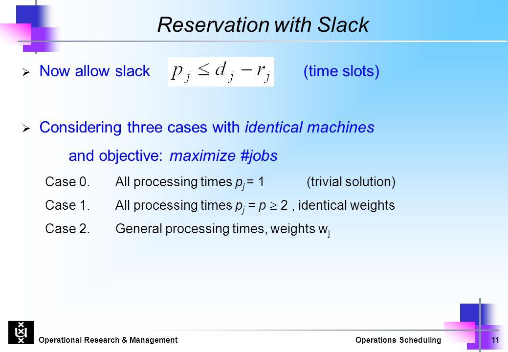 Reservation with Slack