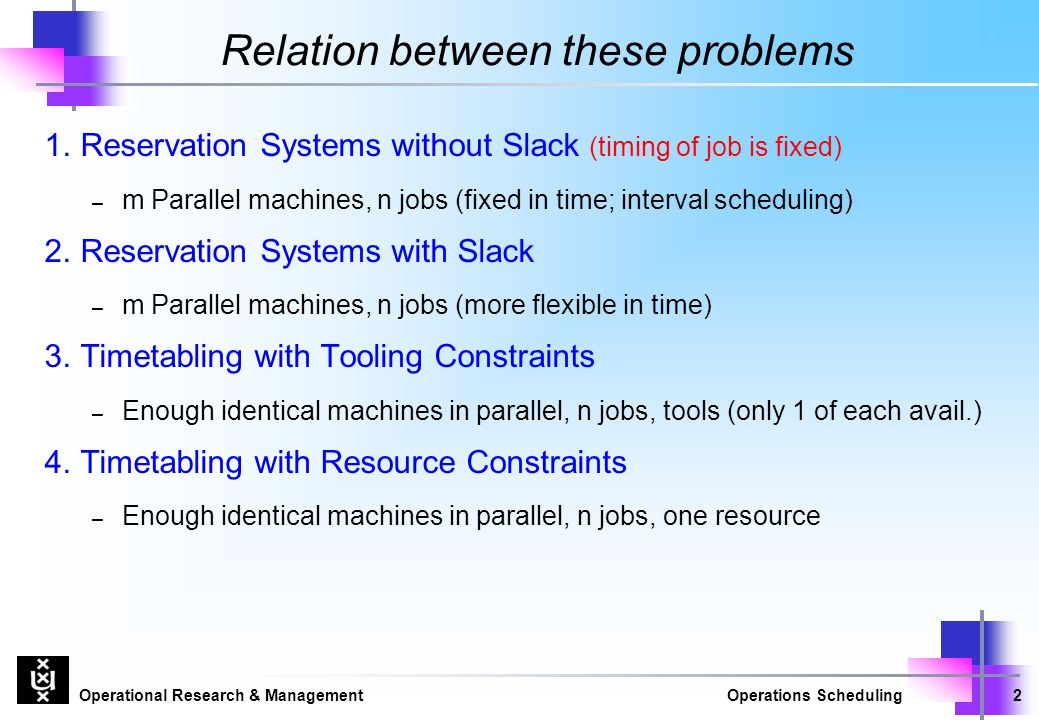Relation between these problems