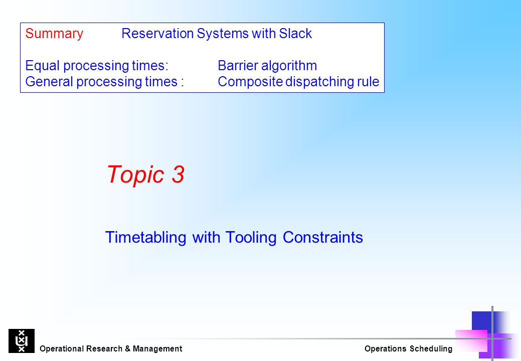 Timetabling with Tooling Constraints