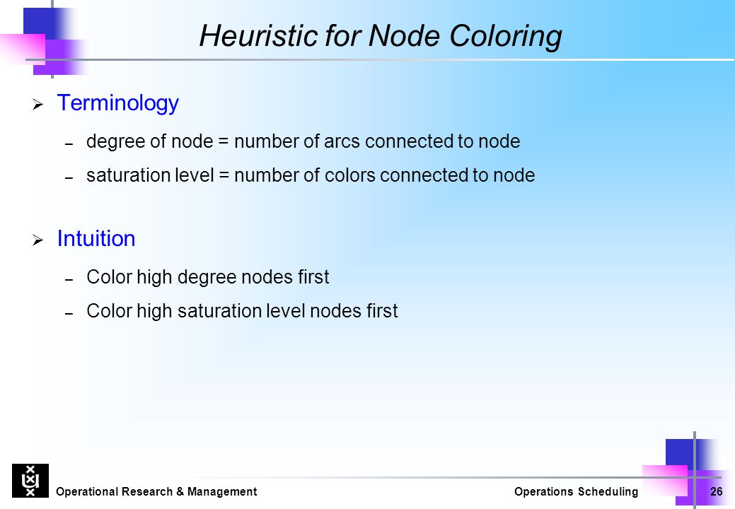Heuristic for Node Coloring