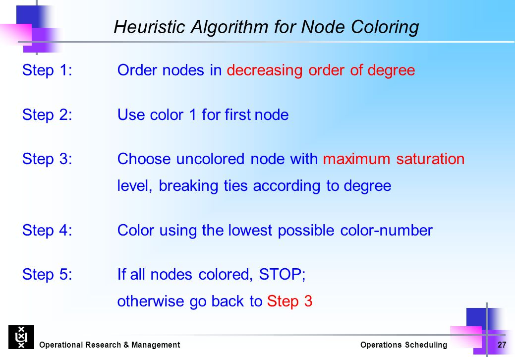 Heuristic Algorithm for Node Coloring