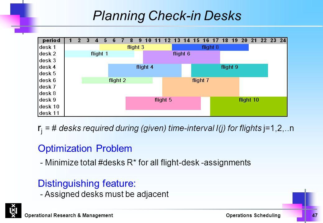 Planning Check-in Desks