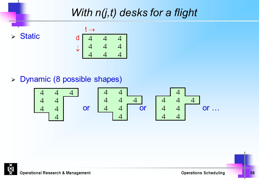 With n(j,t) desks for a flight