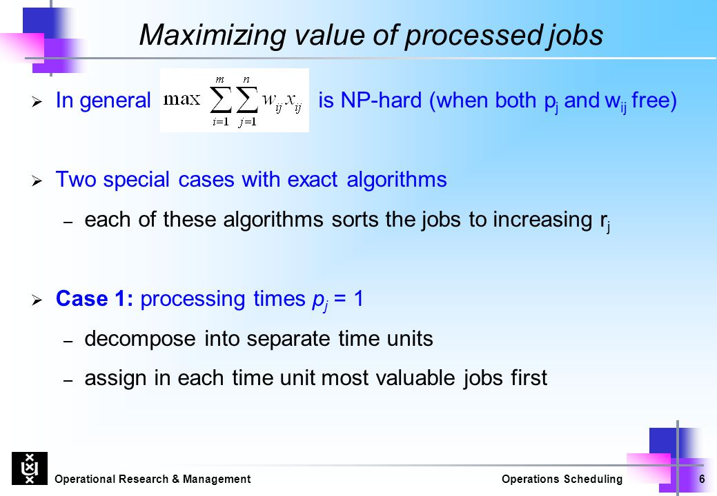 Maximizing value of processed jobs