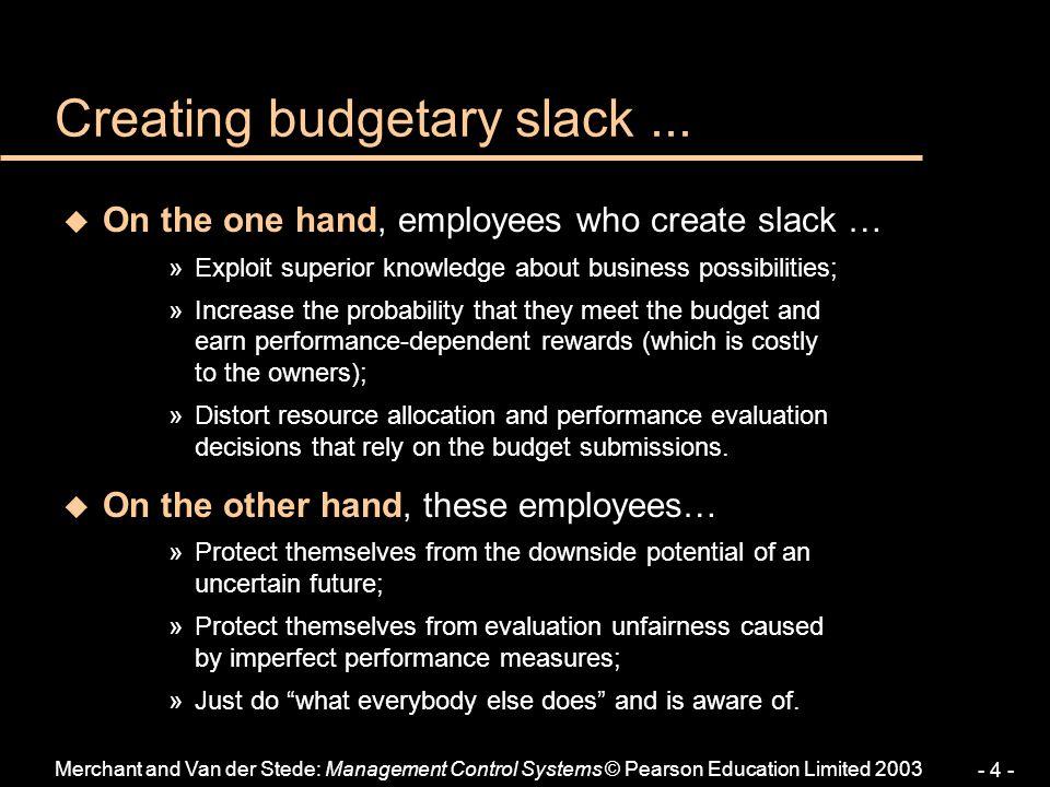 Creating budgetary slack ...
