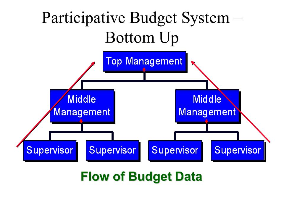 Participative Budget System – Bottom Up