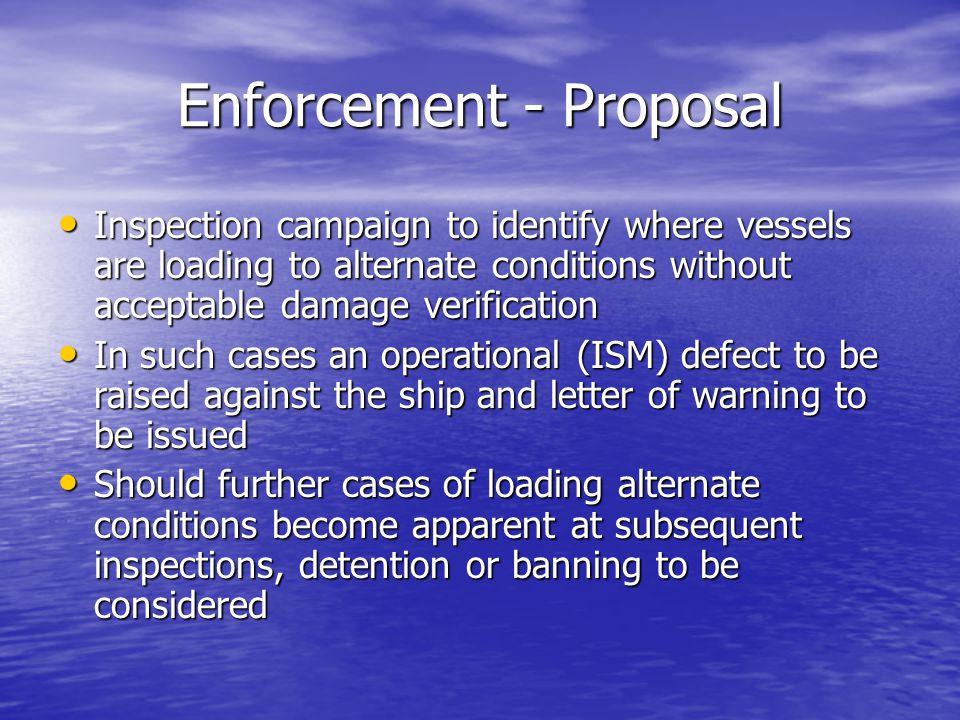 Enforcement - Proposal