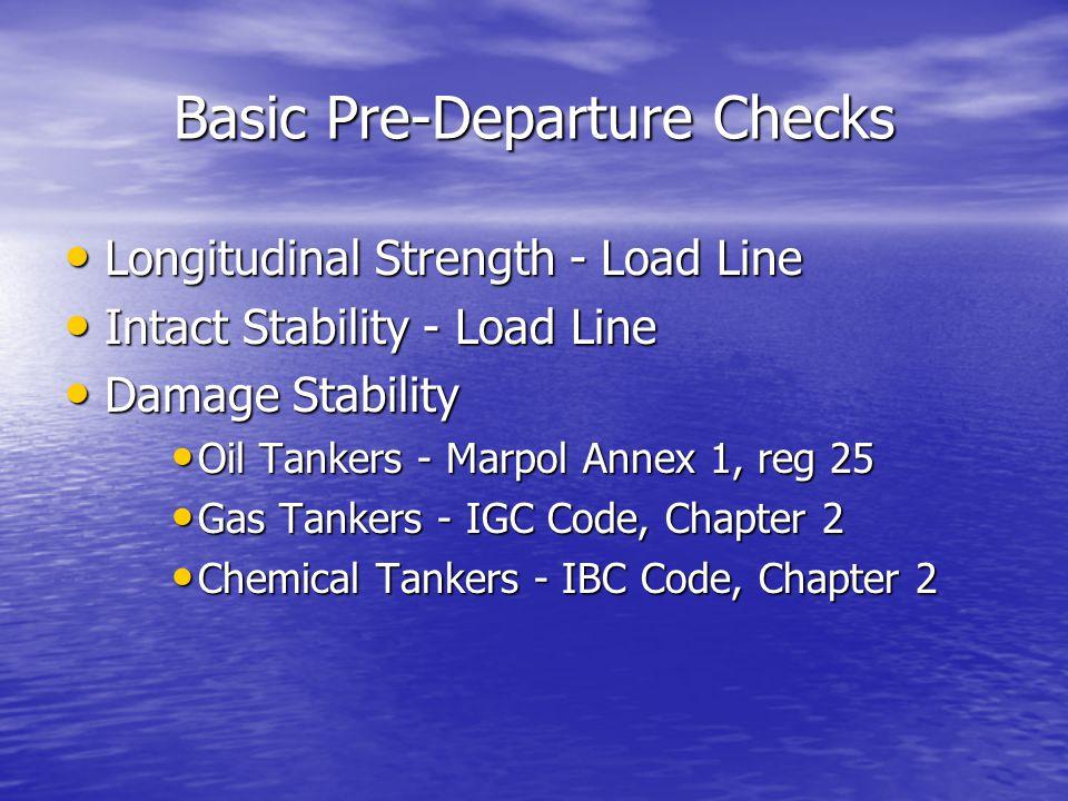 Basic Pre-Departure Checks