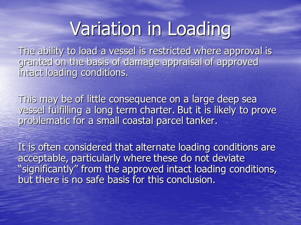 Variation in Loading