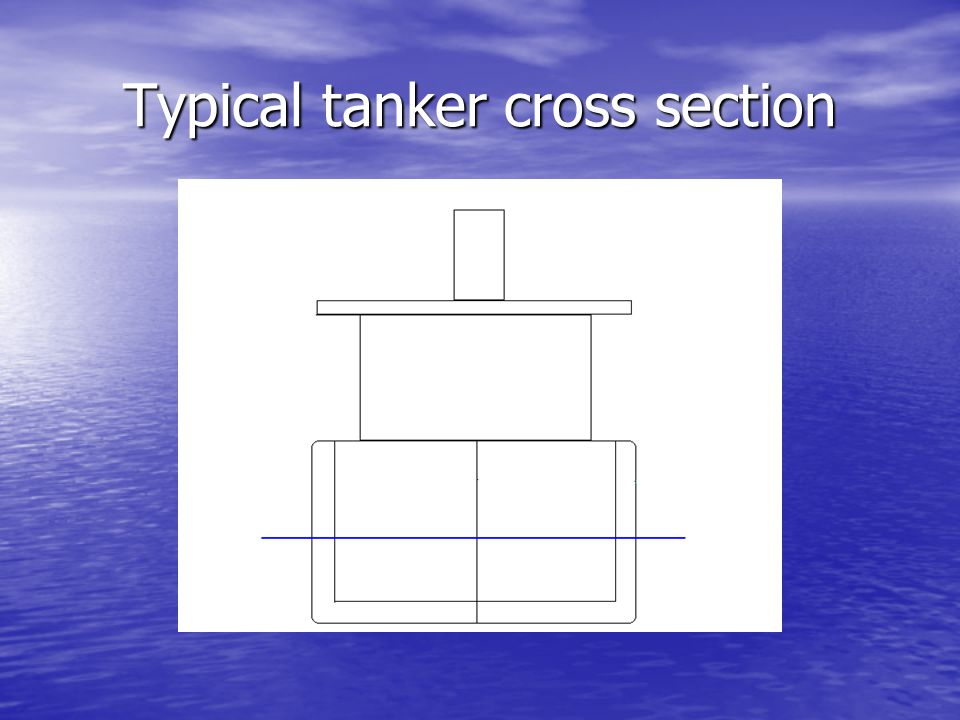 Typical tanker cross section