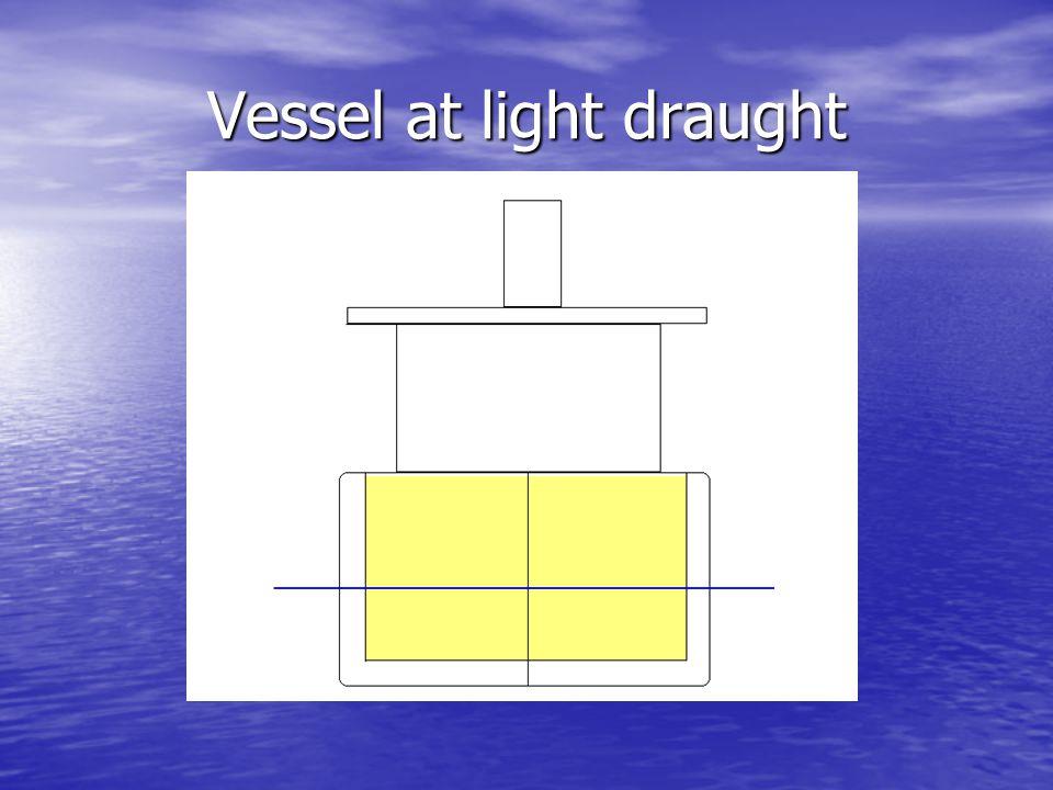 Vessel at light draught