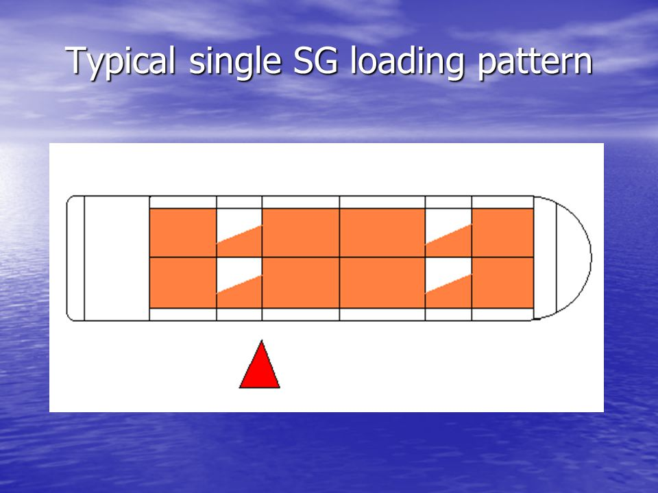 Typical single SG loading pattern