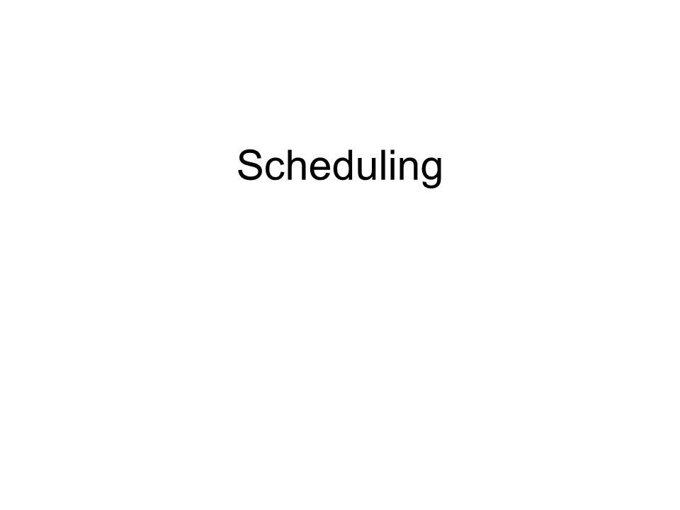 Scheduling 1 1 1 1 1 1 1 1 1
