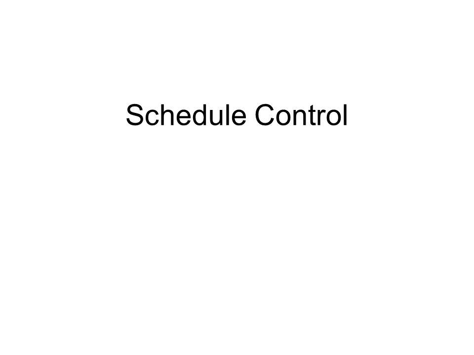 Schedule Control 1 1 1 1 1 1 1 1 1