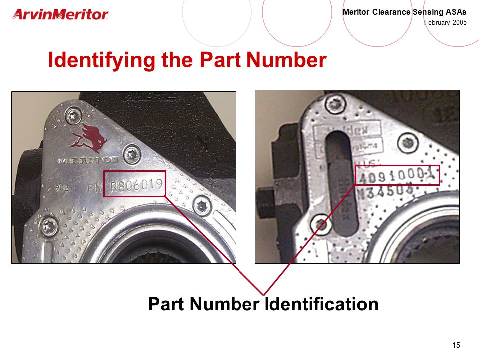 Identifying the Part Number